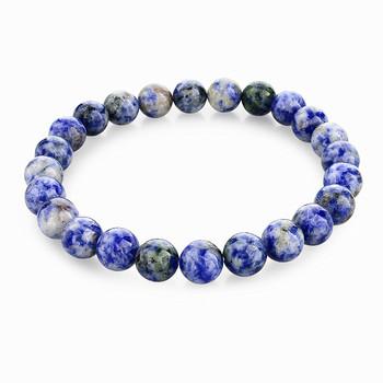 19 цвет будды браслеты браслеты упругой веревки Pulseiras FeМиниnas натуральный камень ...