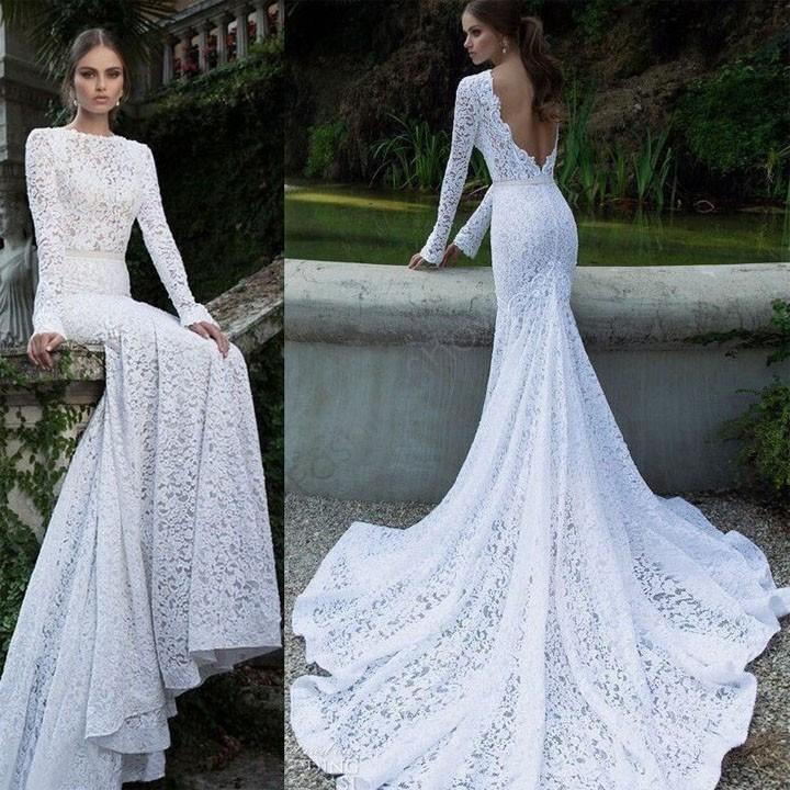 Hot Sale ! 2015 Long Party Dress Lady Sexy White Lace Backless Maxi Fishtail Dress Asymmetric Prom Evening Dress 30(China (Mainland))