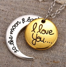 2015 Fashion Lovers Jewelry Silver Gold Family Members I Love You To The Moon and Back