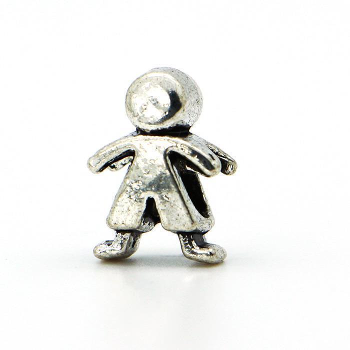 Free Shipping 1piece 925 Silver Boy Bead DIY big hole European Beads Fits Silver Charm pandora