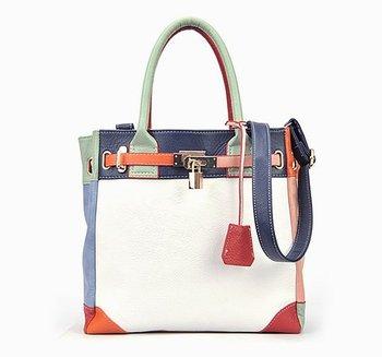Free Shipping~2014 New Fashion PU Leather Women bag\ handbags, ladies' Shoulder Bag\Messenger Bag~ Hit colors ~ 06