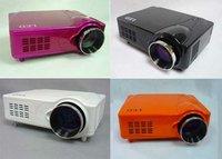 New portable hd led projector input USB/SD/DVB-T