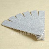 nail tools 50pcs/lot plastic board Grey sandpaper nail files 80 100/180 for nail art  FREE SHIPPING#SC0621-01