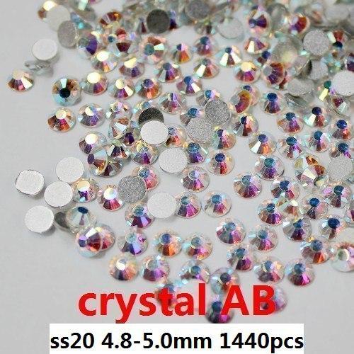 Strass nail art per la decorazione delle unghie 30 lordo/3 borsa/lotto ss20 4.8-5.0mm crystal ab strass sciolto per bling diy