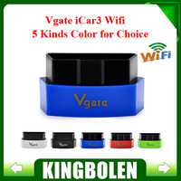 2015 Free Shipping Vgate iCar3 Wifi Elm327 Wifi Code Reader Support All OBDII Protocols Cars iCar 3 Scan for Android/ IOS/PC