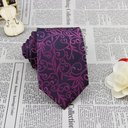 Purple Navy Flower 3.4'' 100%Silk Jacquard Classic Woven Man's Tie Necktie FS05(China (Mainland))
