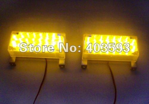 New Arrival 2*22led 44 LED Car Auto Roof Flash Strobe Magnets Emergency Warning Police Light 44LED Red Blue Amber White(China (Mainland))