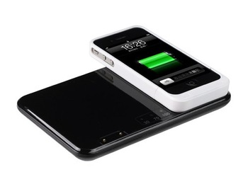 Free Shipping 2012 Global Debut Wireless Charging System For Iphone 4 with 3400 mAh Large Capacity wireless charger mat