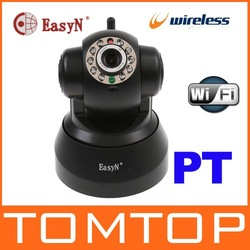 EasyN Wireless IP Camera webcam Web CCTV Camera Wifi IR NightVision P/T With Color BOX, freeshipping,dropshipping wholesale(China (Mainland))