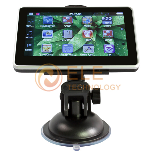 car gps navigator 4.3'' GPS 4GB memory FM mp3/mp4 touch screen free shipping(China (Mainland))