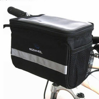 Black Bicycle Cycling Handlebar Bag Front Tube Pannier Rack Bag Basket  Freeshipping