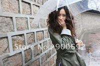 Clear plastic umbrella 48pcs/lot Free DHL shipping promotion umbrella