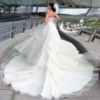 Freeshipping 2011 New Arrival luxurious bosnia gorgeous trailing wedding dress/weddding gown/bridal dress
