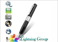 DHL Free shipping!Hot Silver Pen camera,High resolution 1280*960 AVI without retail box,before shipping full test