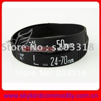 Wholesale 200pcs/lot Free shipping New Lens Bracelet silicone bangles 50mm  24-70mm Camera Lens Bracelets Hot wristband gift