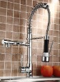 brass body, zinc handle,chrome finish, ceramic cartridge, new design pull out spray kitchen faucet LX-2207