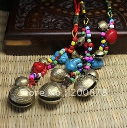 C14 Best offer Tibetan brass singing bells,8'',for Lady handbags hangers,car hangers,mix order(China (Mainland))