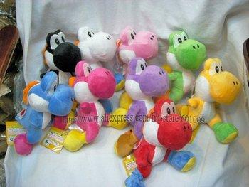 "Free Shiping EMS 30/Lot High Quality Soft Plush Super Mario Plush Yoshi Plush Doll Anime 8"" Cos Figure Wholesale"