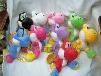 "Free Shiping EMS 30/Lot High Quality Soft Plush Super Mario Plush Yoshi Plush Doll Anime 8"" Cos Figure Wholesale"
