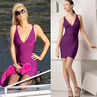 Bandage Dress H003 V-neck Sleeveless Evening Dress Party Dress