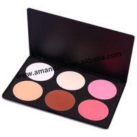 6 Color Bright Makeup Cosmetic Blush Blusher Contour Palette 24pcs/lot