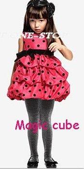 Wholesale-save shipping 6Pcs girls dress RED DRESS baby Dress Pettiskirt kids clothes children wear baby clothing