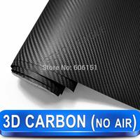 Best Quality Carbon Vinyl 3D Black Fiber Car Wrap Vinyl Sticker (Without Air Channels)