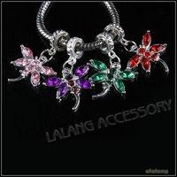 36pcs/lot New Mixed Silver Tone Dragonfly Charms Dangle Pendants Rhinestone Jewelry Pendant  29x19x3.3mm 151209