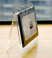 Modern V shape Clear Acrylic Desktop Calendar Stand For Christmas Gifts