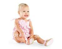 Summber Cake Baby girls Romsper Baby  bodysuits floral romper blue pink colors