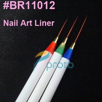 Freeshipping-20sets/lot 3 x Nail Art Acrylic Brush Pen Paint Liner Drawing Tips SKU:G0057X