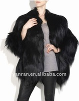 YR-083 cool style goat fur coat ~Customize~retail~wholesale~OEM~