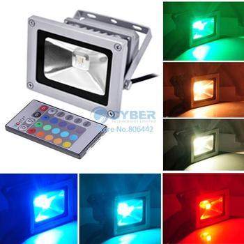 10W 85-265V RGB LED Flood Light Projection Flash Landscape Lighting Floodlight IP65 LED Ourdoor Lighting Retail & Wholesale