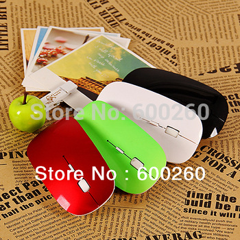 Free shipping Top Selling 2.4G usb wireless mouse mice 10M working distance 2.4G receiver super slim mouse #8141