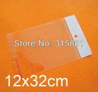 12x32cm hanging hole Opp bags, 500pcs/lot free shipping