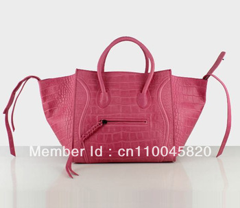 Luggage Phantom Tote Bag Leather Handbag in Croco Printed Leather C-198 88033