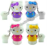 Lovely Cartoon 1GB/2GB/4GB/8GB/16GB Hello Kitty USB Flash Drive,Novelty Hello Kitty USB Memory Stick,Kitty Cat USB Thumb Drive