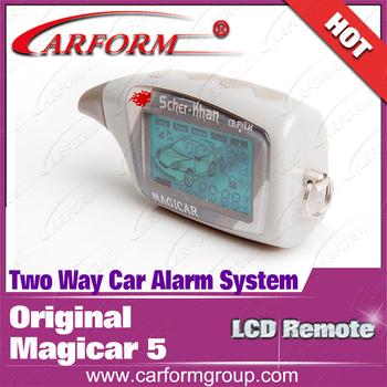 Original Magicar 5 LCD remote controller Two way car alarm system MAGICAR 5 SCHER-KHAN remote  Free shipping