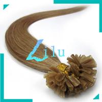 "free shipping 16""-22""Remy U Tip Nail Tip Human Hair Extension #16,100s"