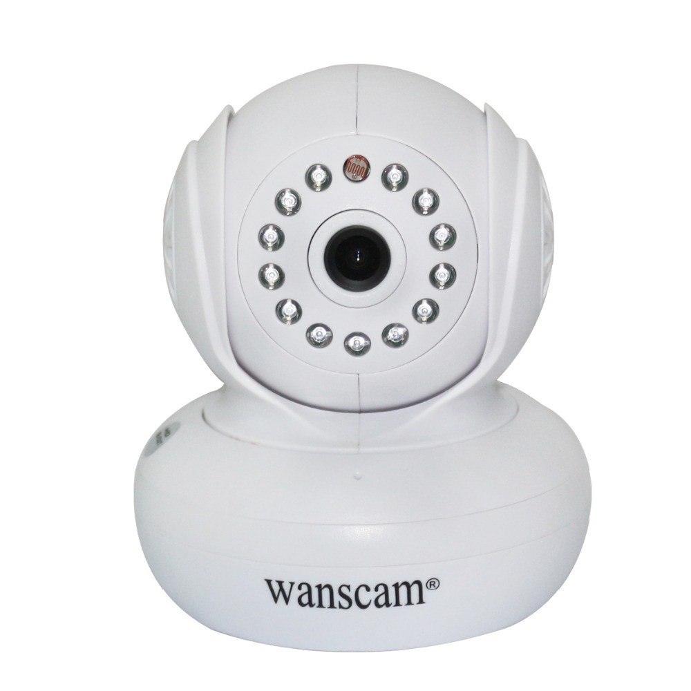 New PNP White Dual Audio Wireless/Wired Wi-Fi IR Pan Tilt Home Security IP Camera Baby Monitor Remote View WANSCAM Free Shipping(China (Mainland))