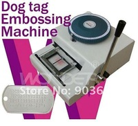 Turkish Fonts Dog Tag Embosser,Manual PET Tag Embossing Machine 62 Code Characters ,Steel Embossing Machine