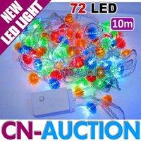 FREE SHIPPING! 10M 72 LED Christmas Lights Lantern Bulbs Multi-color LED String Light Lamp Fairy Lights Decoration (CN-LSL8)