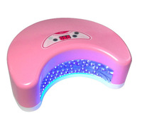 Free Shipping - 12w Led Gel Nail Curring UV  Lamp Nail Dryer With Timer