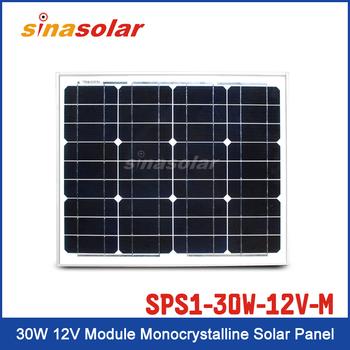 30W 12V Module Monocrystalline Solar Panel