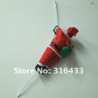 FREE SHIPPING Christmas Ornament SANTA Claus climbing rope Christmas decoration hanging ceiling 1 / strings 27.5 IN