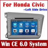 "8"" 2-Din Car DVD Player for Honda Civic Left Driving 2012 with GPS Navigation Bluetooth TV Map USB AUX Radio Stereo Audio Video"