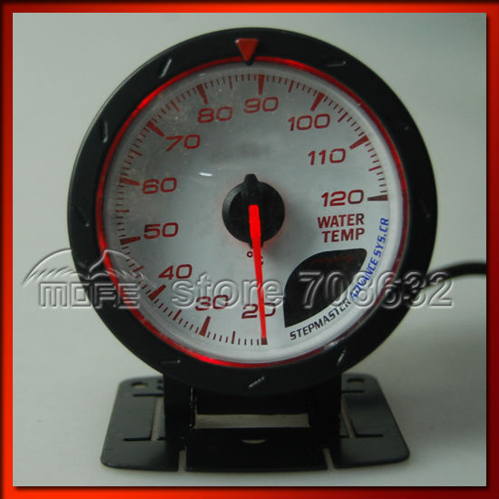 Universal 60mm DEFI CR Advance Turbo Boost Auto Gauge Meter White / Red LED With Sensor Red Shift Light(China (Mainland))