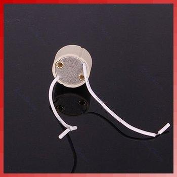 D19+Free Shipping 10pcs/lot GU10 Base Socket Lamp Holder Ceramic Wire Connector