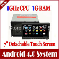 "7"" Android 4.0 2-Din Car DVD Player GPS Navigation with Radio Bluetooth TV Map USB Audio Video 3G WIFI Detachable Front Panel"
