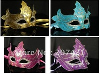 Free shipping 10pcs/lot New! Three-dimensional carved mask--made of paper--Party/ Masquerade/ ball/ wedding masks, 4 colors